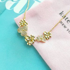 Precious Pansy Pave Necklace + dust bag